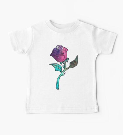 Stained Glass Rose Galaxy Baby Tee