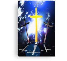 Three Crosses At Calvary Canvas Print