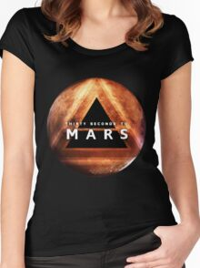 30 Seconds to Mars: Planet Design Women's Fitted Scoop T-Shirt