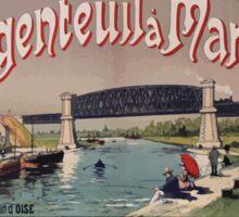 Gustave Fraipont Argenteuil Mantes affiche Chemins de fer Sticker