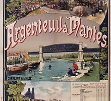 Gustave Fraipont Argenteuil Mantes affiche Chemins de fer by wetdryvac