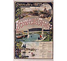 Gustave Fraipont Argenteuil Mantes affiche Chemins de fer Photographic Print