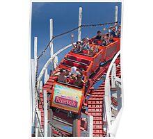 Wooden Roller Coaster (Santa Cruz, California) Poster