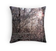 The Lord looked down from heaven Throw Pillow