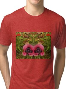 Mirrored Poppies Tri-blend T-Shirt