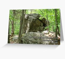 O Lord my rock Greeting Card