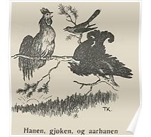Theodor Kittelsen Hanen gjoken og aarhanen Eventyr1915p091 Poster