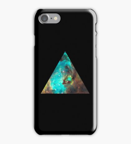 Green Galaxy Triangle iPhone Case/Skin
