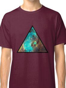Green Galaxy Triangle Classic T-Shirt