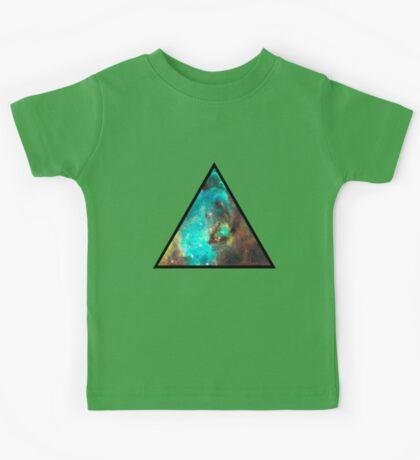 Green Galaxy Triangle Kids Tee