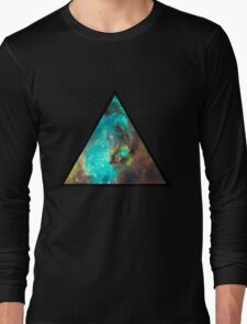 Green Galaxy Triangle Long Sleeve T-Shirt