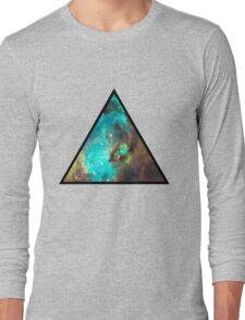 Green Galaxy Triangle Long Sleeve T-Shirt