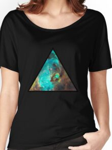 Green Galaxy Triangle Women's Relaxed Fit T-Shirt