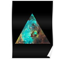 Green Galaxy Triangle Poster