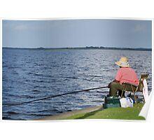 Fishing Lake Monroe Poster