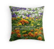 How good and how pleasant Throw Pillow