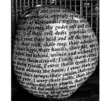 Carved in stone-Carlisle-UK  Photographic Print