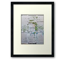 Flakey Door Framed Print