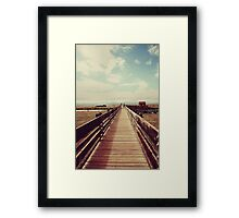 Straight to the Clouds Framed Print