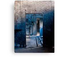 The Dirty Blue Doorway Canvas Print