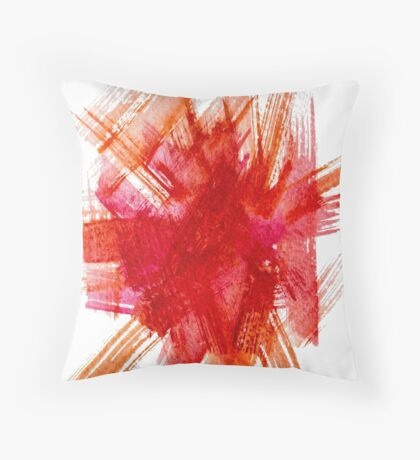 Colorful Watercolor Stroke Throw Pillow