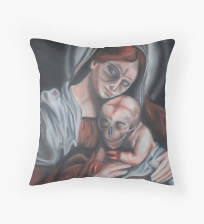 Madonna & Child Throw Pillow