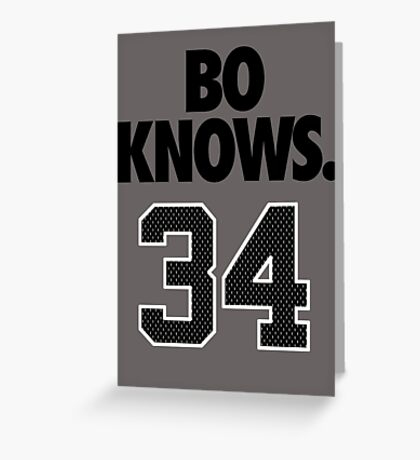 Bo Knows. 34 Greeting Card