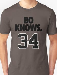Bo Knows. 34 Unisex T-Shirt