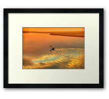 Wake - Narrabeen Lakes Entrance, Sydney Australia - The HDR Experience Framed Print