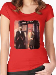 Capaldi Doctor Who Women's Fitted Scoop T-Shirt