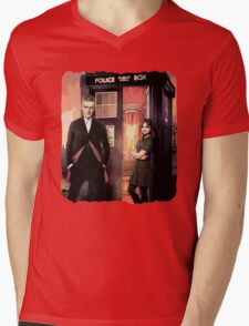 Capaldi Doctor Who Mens V-Neck T-Shirt