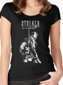 Stalker COP White Women's Fitted Scoop T-Shirt