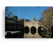 The Pulteney Bridge, Bath Canvas Print