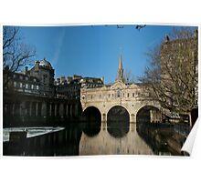 The Pulteney Bridge, Bath Poster