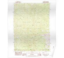 USGS Topo Map Oregon Dutchman Peak 279738 1983 24000 Poster