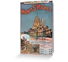 Gustave Fraipont Affiche Ouest Mont St Michel Greeting Card