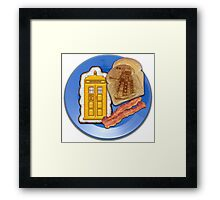 Whovian Breakfast Framed Print