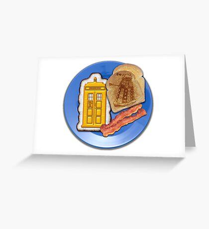 Whovian Breakfast Greeting Card