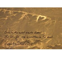 My love written in the sand on Valentine's Day Photographic Print