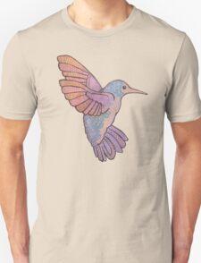 hummingbird doodle mandala boho pastel cute tattoo animal T-Shirt