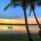 Noosa River Sunset Panoramic by Adam Gormley