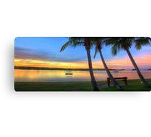 Noosa River Sunset Panoramic Canvas Print