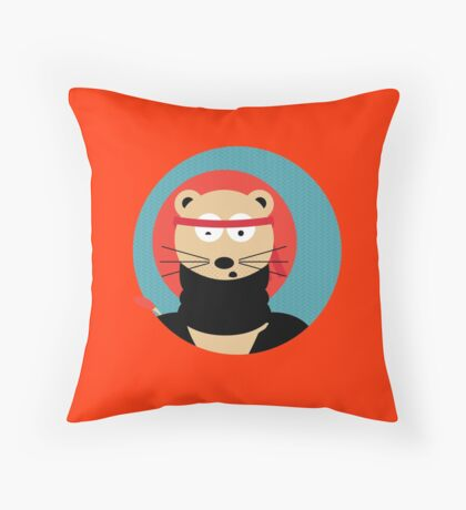 Animal's Gangsta - Lion Throw Pillow