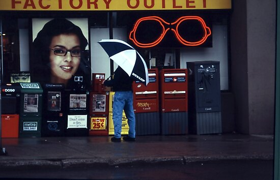 Rainy Day Shopping by Yannik Hay