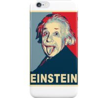 Albert Einstein Portrait pulling tongue Campaign Design  iPhone Case/Skin