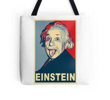 Albert Einstein Portrait pulling tongue Campaign Design  Tote Bag