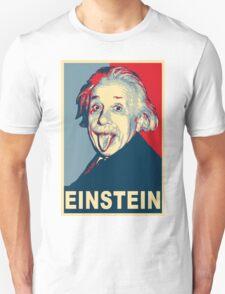 Albert Einstein Portrait pulling tongue Campaign Design  Unisex T-Shirt