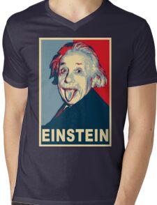 Albert Einstein Portrait pulling tongue Campaign Design  Mens V-Neck T-Shirt