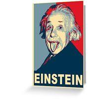 Albert Einstein Portrait pulling tongue Campaign Design  Greeting Card
