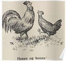 Theodor Kittelsen Hanen og Honen Barne Eventyr1915p001 Poster
